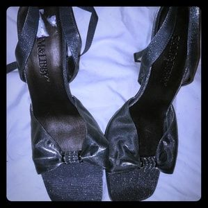 Sam & Libby Silver Metallic Tie-ankle slings